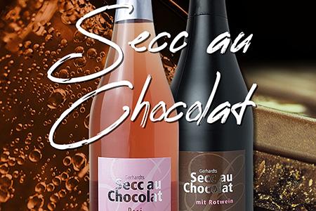 6 Secc au Chocolat mit Rotwein Lieblich Süß Jakob Gerhardt Schoko Secco Perlwein